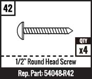 "#42 - 1/2"" Round Head Screw"