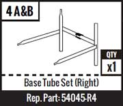 #4A&B - Base Tube Set (RIght)