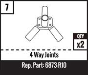 #7 - 4 Way Joints