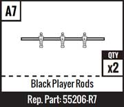 A7 - Black Player Rods