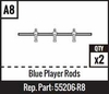 A8 - Blue Player Rods