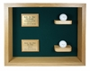2 Holes in One Shadow Box Display-Oak