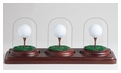 3 Holes in One Glass Dome Display-BASE ONLY