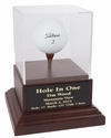 Acrylic Hole In One Display with Cherry Wood Base