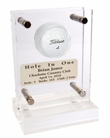 Acrylic Hole-In-One Golf Trophy