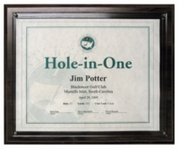 Hole-In-One Certificate Plaque