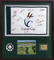 Framed Hole In One Pin Flag & Scorecard Shadow Box