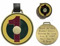 Hole-In-One Bag Tag and Ball Marker