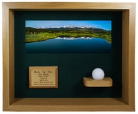 Hole-In-One Ball & Photo Shadow Box Display - Oak
