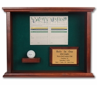 Ball & Scorecard Shadow Box