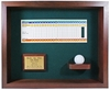 Hole-In-One Ball & Scorecard Shadow Box Display - Cherry