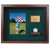 Hole In One Ball & Vertical Photo Shadow Box Display - Cherry