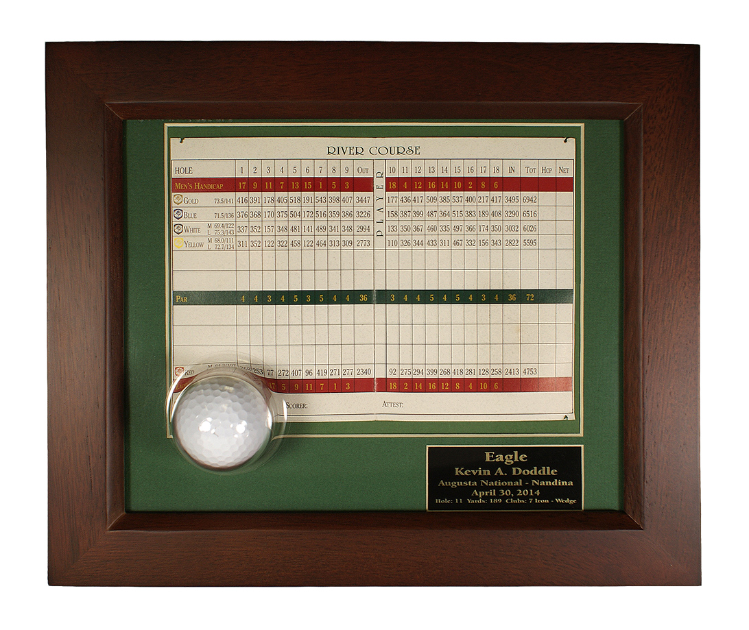 Ball and Scorecard Display Frame only $85.00 - Eagle, Best Round ...