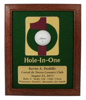 Hole-In-One Framed Ball Display - Cherry