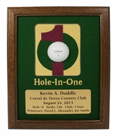 Hole-In-One Framed Ball Display - Walnut