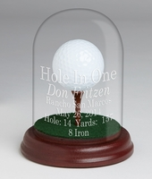 Glass Dome Trophy with Tee for Eagle, Double Eagle & Best Round