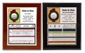Hole In One Laminated Plaque - Black