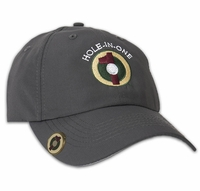 Grey Hole in One Hat and Ball Marker