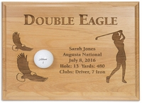 Ladies Double Eagle 12x9 Laser Etched Plaque