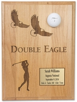 Ladies Double Eagle 9x12 Laser Etched Plaque