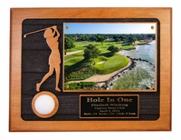 Ladies Hole-In-One Sandcarved Photo Plaque