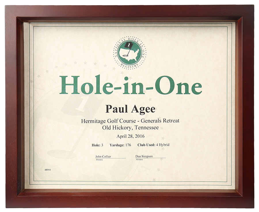 Hole In One Shadow Box Certificate Frame Only 4499 Certificates
