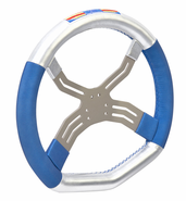 0083.DF 2013 FA KART 6 HOLE FOUR SPOKE STEERING WHEEL WITH HIGH GRIP HAND MATERIAL
