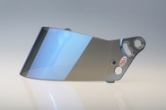 276 SRV REPLACEMENT SHIELD- Silver & Blue Chrome