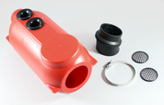FREELINE TWO HOLE 100CC AIRBOX, RED