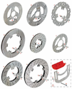 H. 0051.DC Tony Kart OTK Rear Brake Disc 206x16mm for New Style BS6 Caliper