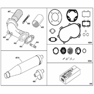 IAME X30 Exhaust Parts and Gasket Kit