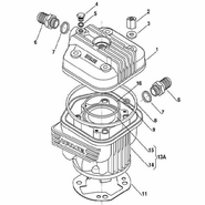 IAME X30 Head and Cylinder Parts