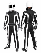 K1 Black/White Triumph 2 Proban Car Racing Suit