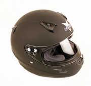 New! Vega KJ2 Youth Karting Helmet- FLAT BLACK