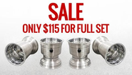 "SALE!!! Polished Spun Aluminum Wheel Set 5X5.5"" / 5X7"""