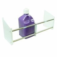 Single Row Fuel Jug Rack - 4 Position / White