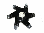 SPROCKET CARRIER 30MM BLACK COMPLETE WITH BOLT AND WASHER