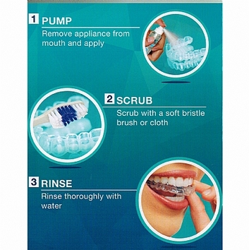Orthodontic Appliance Plastic Mouthpiece Cleaner