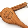 "12"" Cherry Wooden Spoon - Celebrate Motif with Personalization"