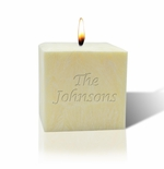 """3"""" AROMATHERAPY PALM WAX CANDLE : NAME OR PHRASE"""