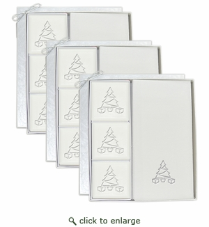 3 SIGNATURE SPA COURTESY GIFT SETS : SILVER CHRISTMAS TREE GIFT SET