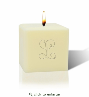 "3"" SOY BLEND CANDLE : INITIAL"