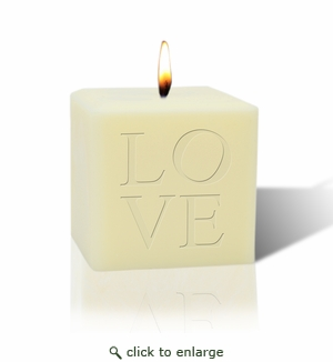"3"" SOY BLEND CANDLE : LOVE"