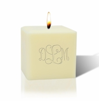 "3"" SOY BLEND CANDLE : MONOGRAM"