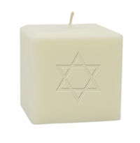 "3"" SOY BLEND CANDLE : STAR OF DAVID"