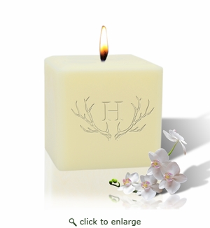 """3"""" Soy Candle - Antler with Single Initial"""