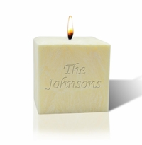 "3"" UNSCENTED PALM WAX CANDLE : NAME OR PHRASE"
