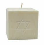 "3"" UNSCENTED PALM WAX CANDLE : STAR OF DAVID"