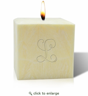 "4"" AROMATHERAPY PALM WAX CANDLE : INITIAL"