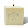 "4"" AROMATHERAPY PALM WAX CANDLE : Mr & Mrs 2017"